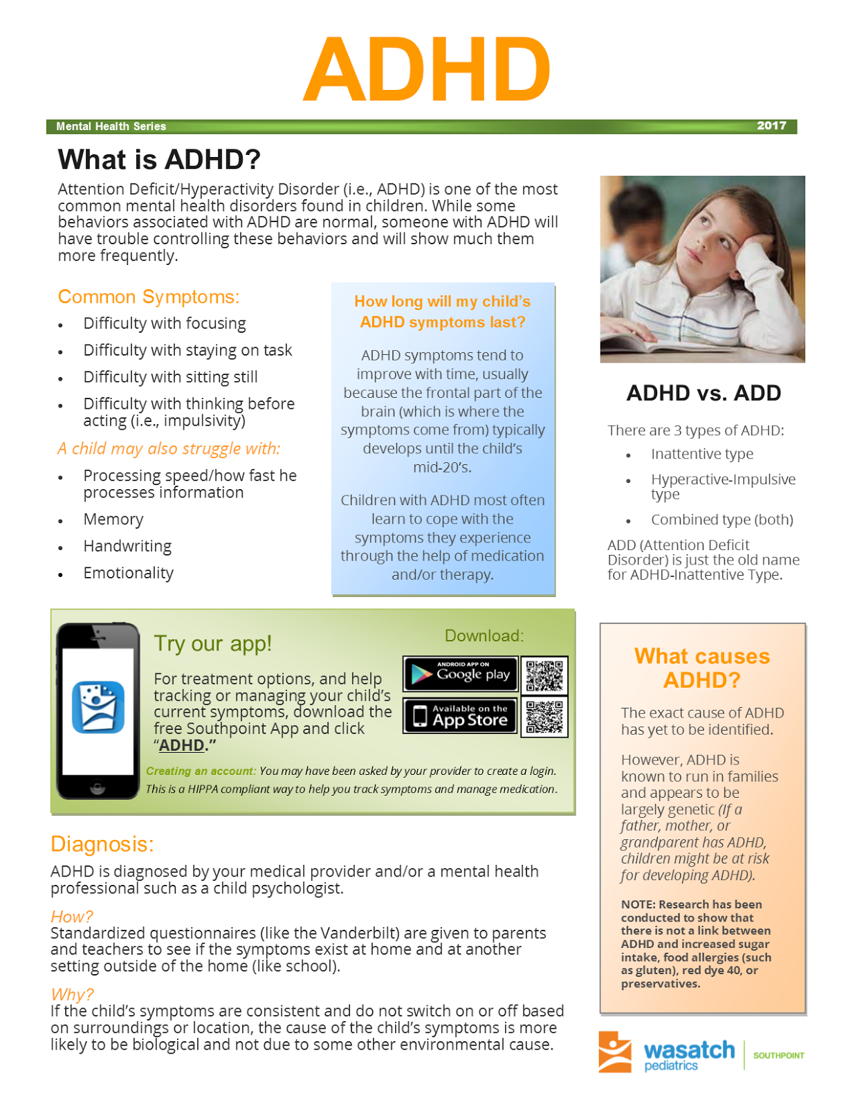 ADHD – Wasatch Pediatrics – Southpoint